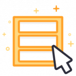Online form sign up icon