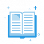 Blue book open pages icon