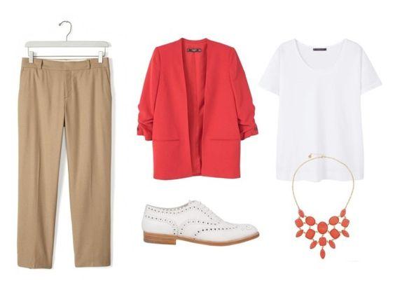 Come abbinare il colore corallo - la giacca