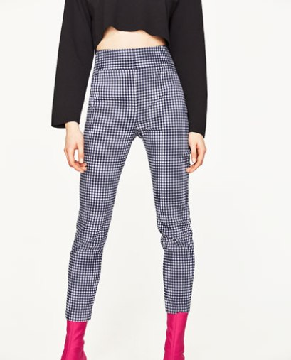 Pantaloni a quadretti zara