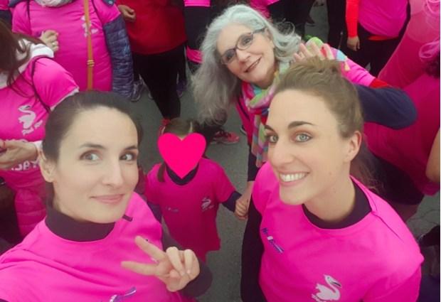 Pink runners - mamma, Amelia, Bea ed io
