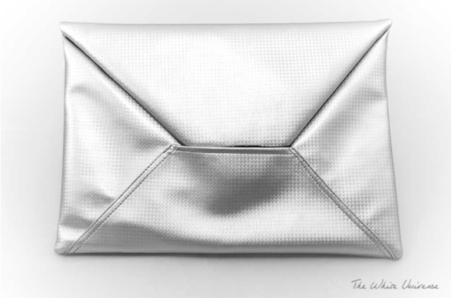 The white Universe envelope bag Valentina