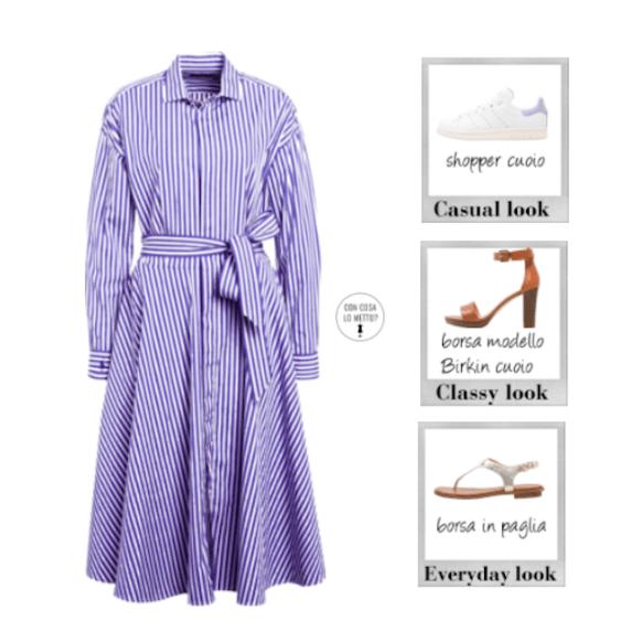 Come abbinare scarpe e vestiti - chemisier