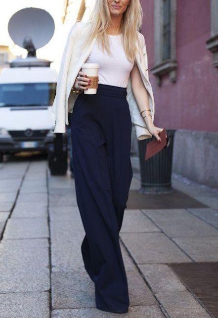Cosa indossare ad un brunch di lavoro: il pantalone palazzo
