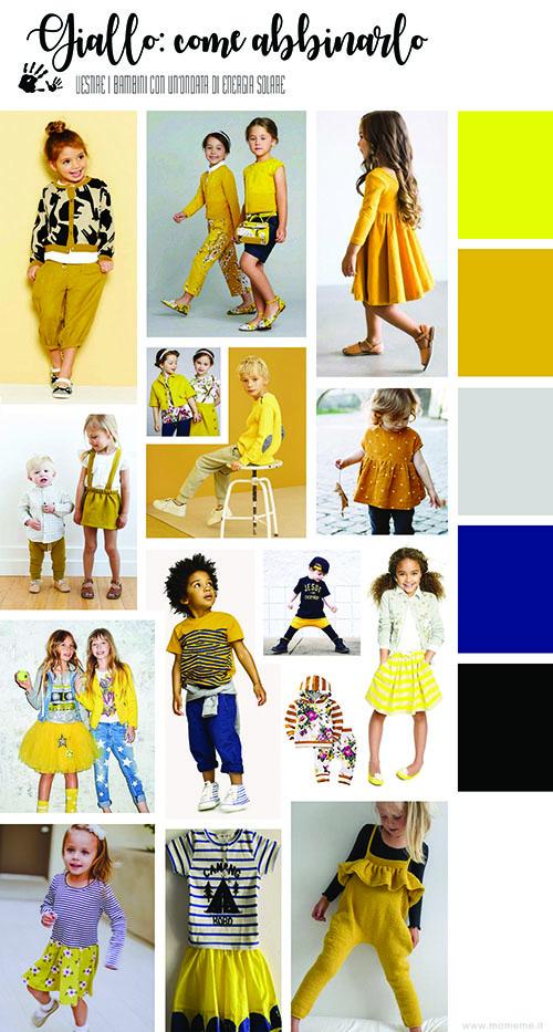 giallo moda bambini Momeme