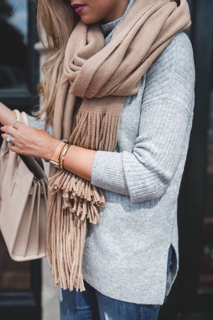 Come indossare la sciarpa in autunno