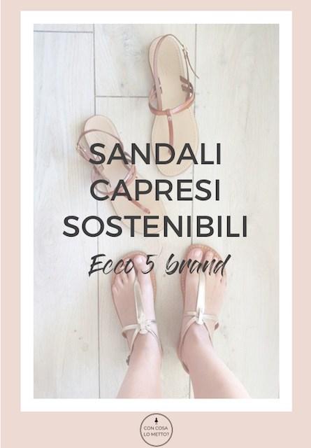 Sandali capresi sostenibili: 5 brand da tenere presenti