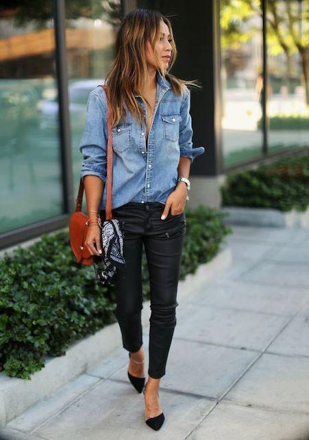Come indossare la camicia in jeans in modo facile