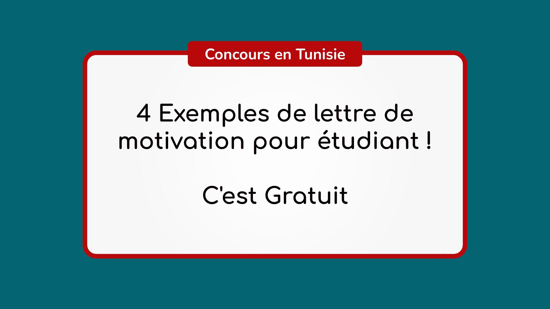 4 Exemples de lettre de motivation pour étudiant ! C'est ...