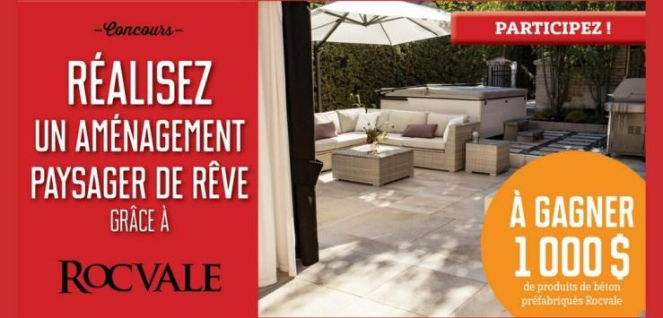 Concours Réalisez un aménagement paysager de rêve grâce à Rocvale   1000$