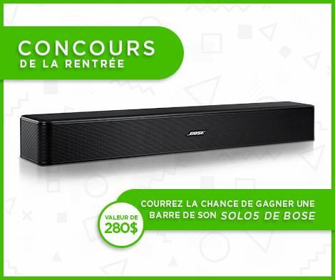 Concours - Gagner une barre de son Bose Solo 5 (valeur 280$)
