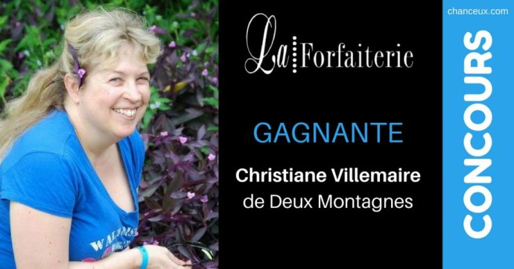 Image Christiane Villemaire gagnante concourschanceux.com