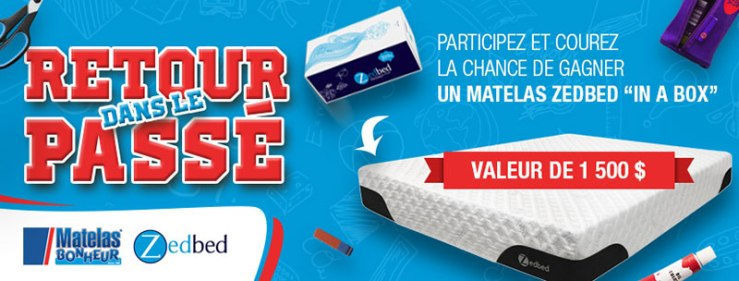 """Concours - Gagner un matelas """"in a box"""" Zedbed (valeur de 1 500 $)"""