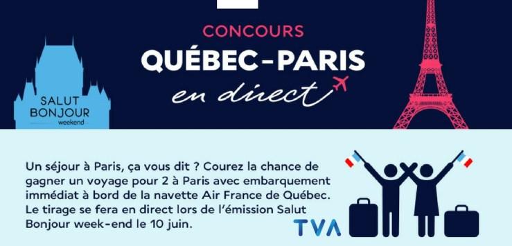 image concours tva Salut Bonjour CONCOURS QUÉBEC-PARIS EN DIRECT | Valeur de 21 000$