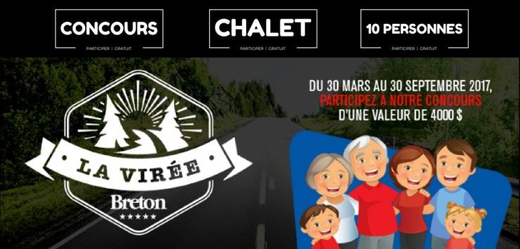 image concours la virée au chalet organiser par Breton inc.