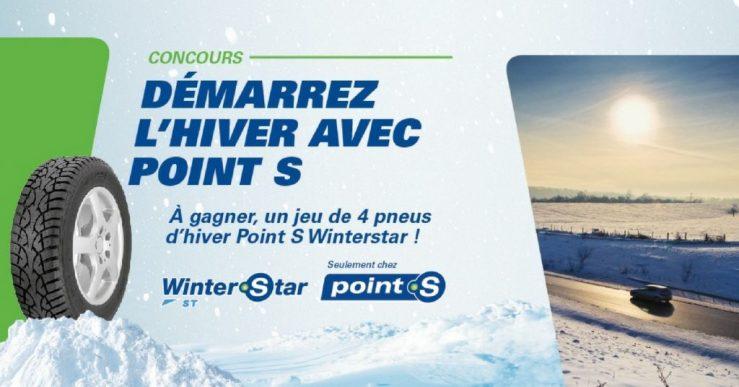 ConcoursPOINT S - Gagnez un jeu de 4 pneus d'hiver Winterstar ST