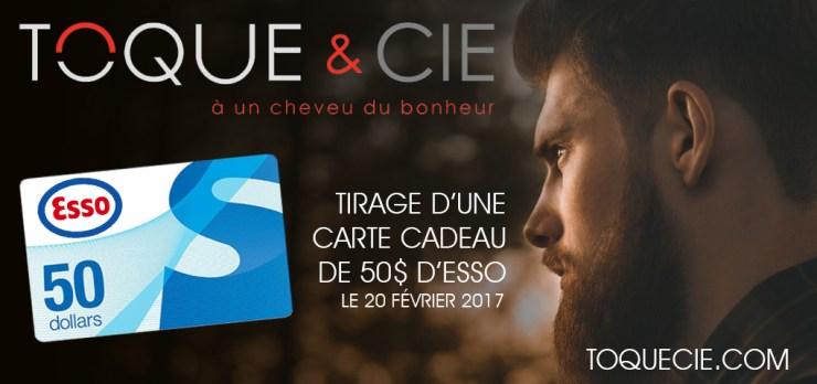 Gagne une carte Cadeau Esso de 50$ offert par la boutique du cheveux en ligne Toque et Cie.