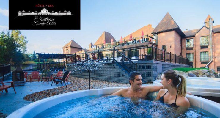 suite de luxe à l'Hotel – Spa Château Sainte Adèle.
