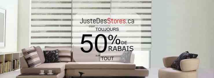 Promo Justedesstores.ca
