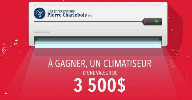 Un climatiseur de 3 500$ à gagner!