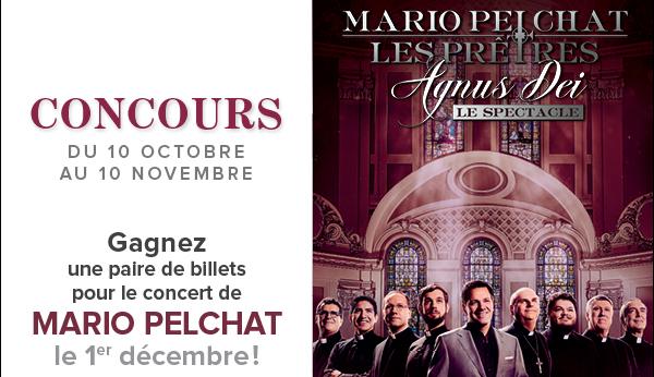 Concours Le Belâge - Gagnez une paire de billets pour le concert de Mario Pelchat