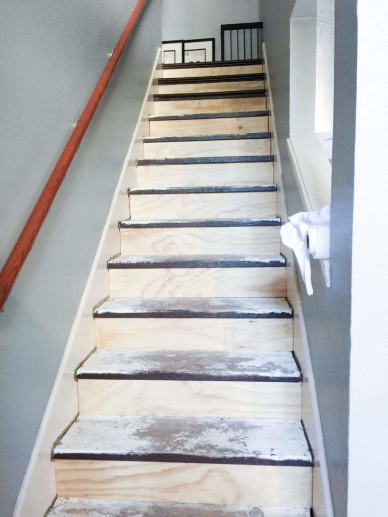 how to install hardwood flooring on stairs with nosing