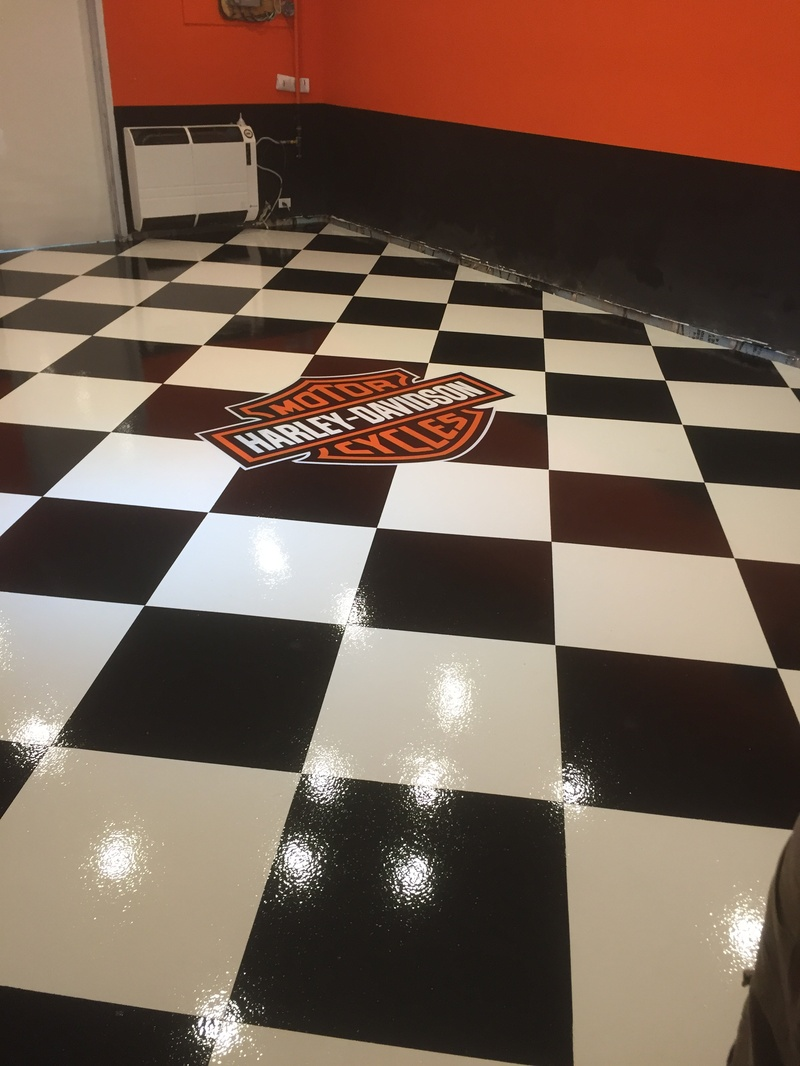 Harley davidson Garage Floors