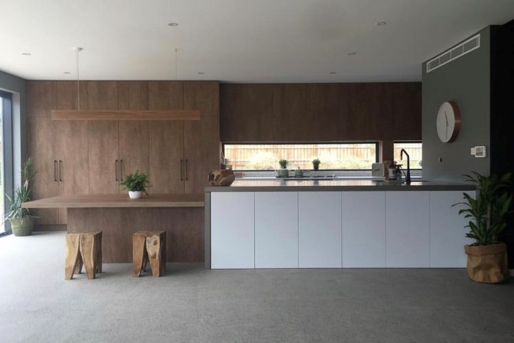 black kitchen island cart modern rug concreate - concrete benchtops and bespoke creations