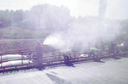 Fig. 1. Fogging of Bridge Deck.