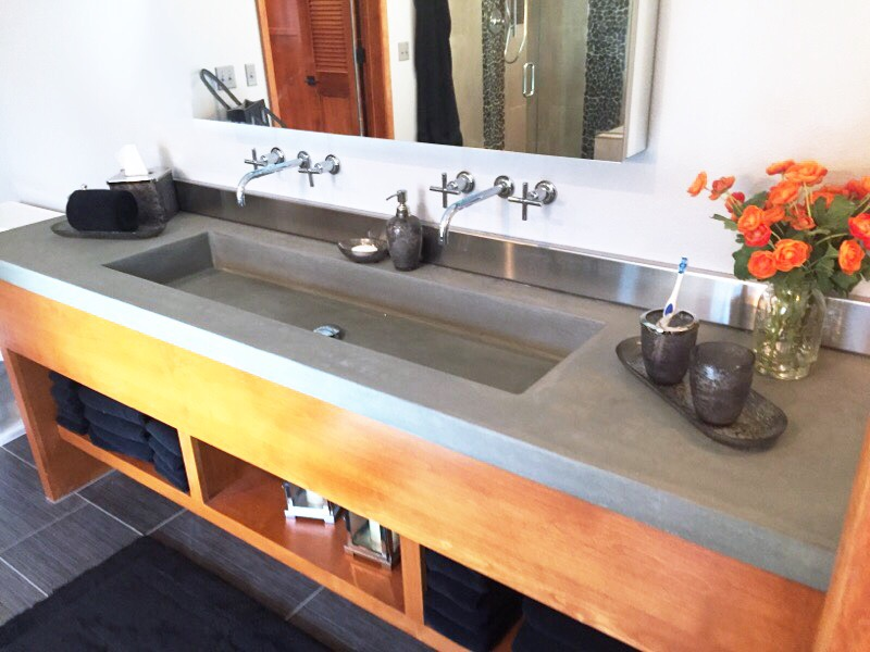Cement Countertop Colors Concrete Bathroom Vanities, Sinks, & Countertops