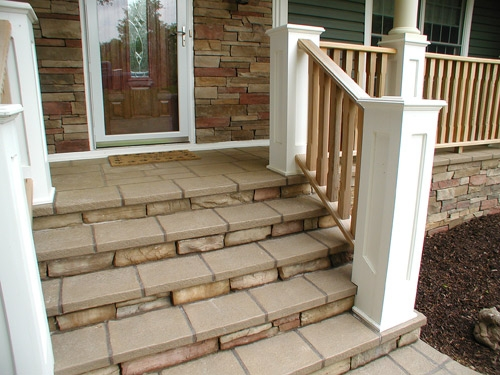 How We Installed An Overlay Over A Wood Deck Concrete Decor   Wood Over Concrete Steps   Building   Stair Stringers   Concrete Patio   Concrete Porch Makeover   Composite Decking