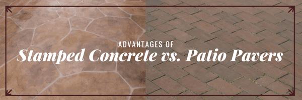 advantages of stamped concrete vs