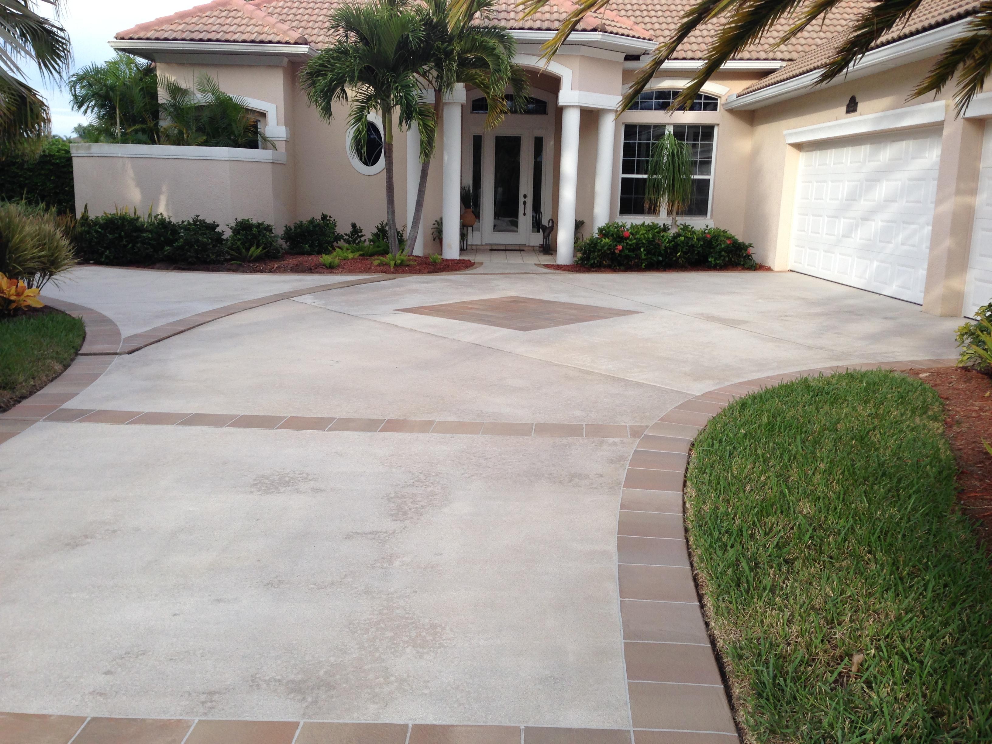 Concrete Designs Florida  driveway decorating ideas