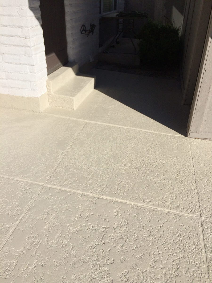 Bone Solid color Stained Patio  Concrete Design Systems