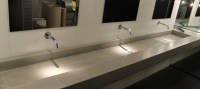 Polished concrete vanities, bowls and shower panels ...