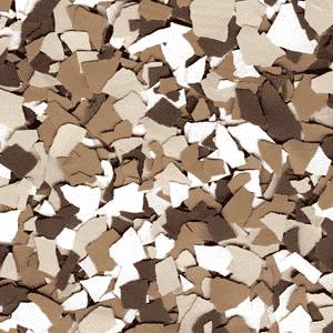 brown epoxy floor chips