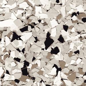 beige epoxy flakes