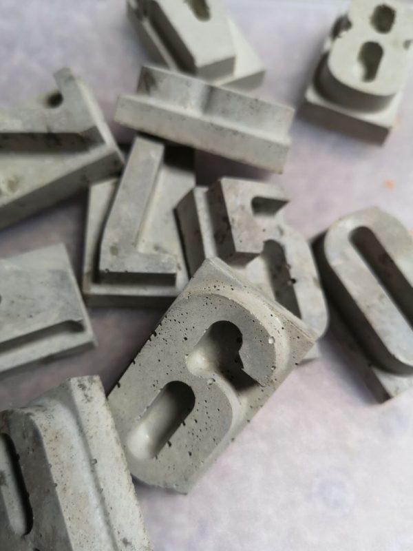 Concrete Typeset numbers photo 1
