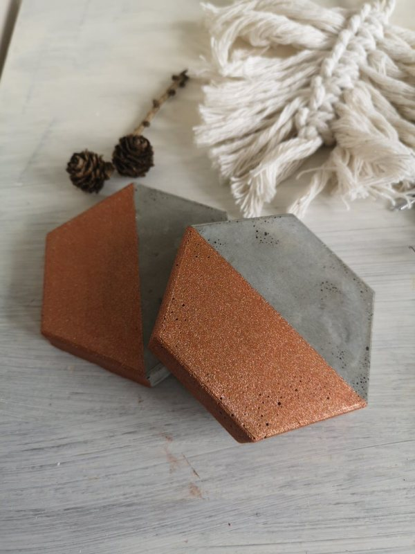 Copper and Grey Coasters photo 1