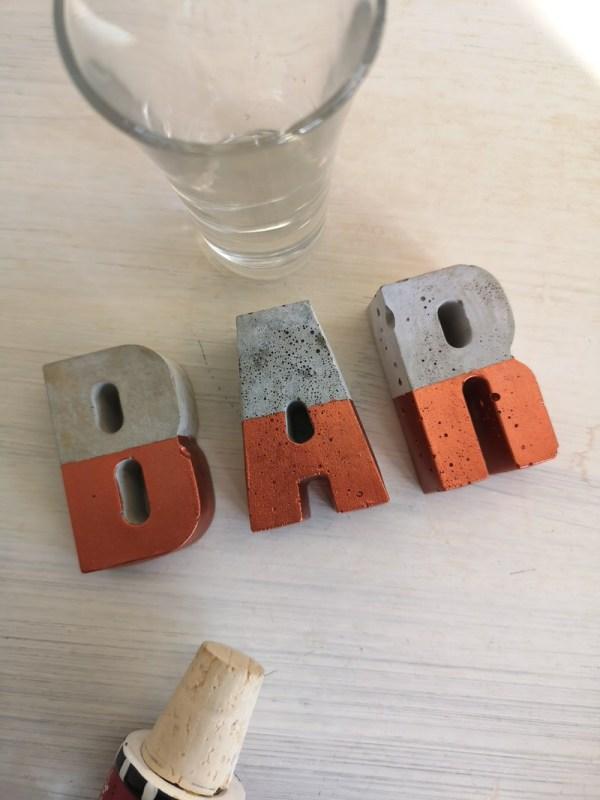 Copper and Grey Concrete Letters photo 3