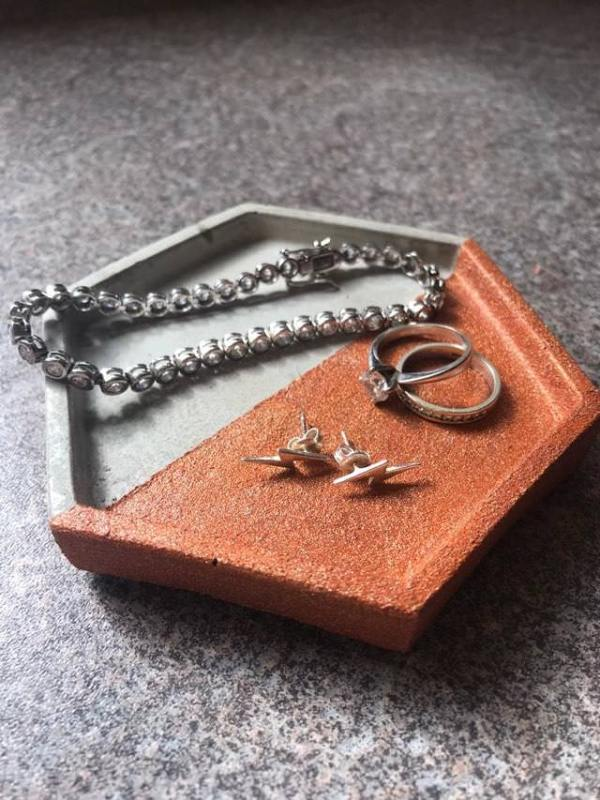 Copper and Grey Trinket Tray photo 2