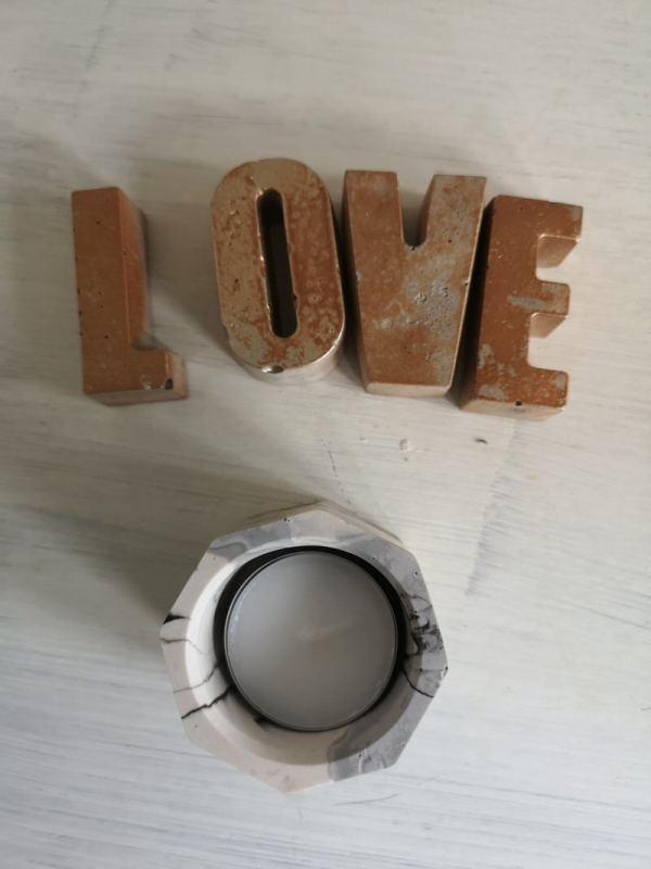 Copper Rustic Love letters main photo