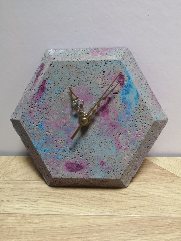 Hexagonal Wall Clock photo 2
