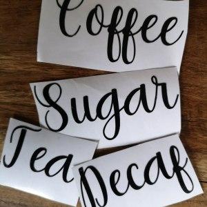Vinyl Decals main photo coffee tea sugar decaf