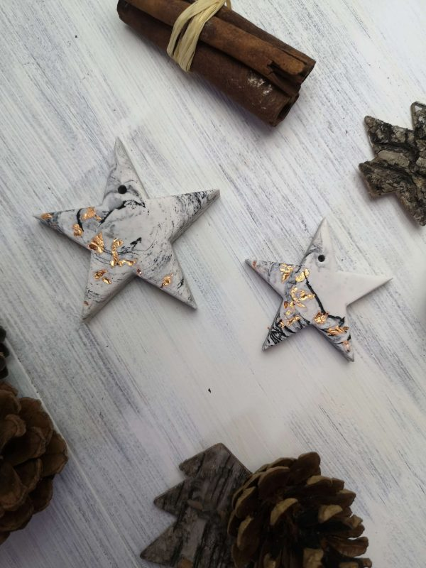Copper Marbled Star Decoration photo 1