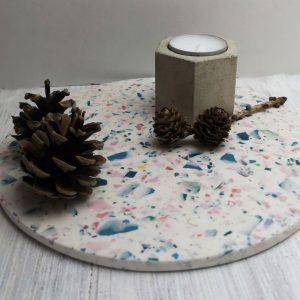 Round Terrazzo Platter main photo