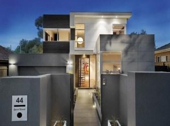 ▷ Fachadas de casas modernas en tonos grises
