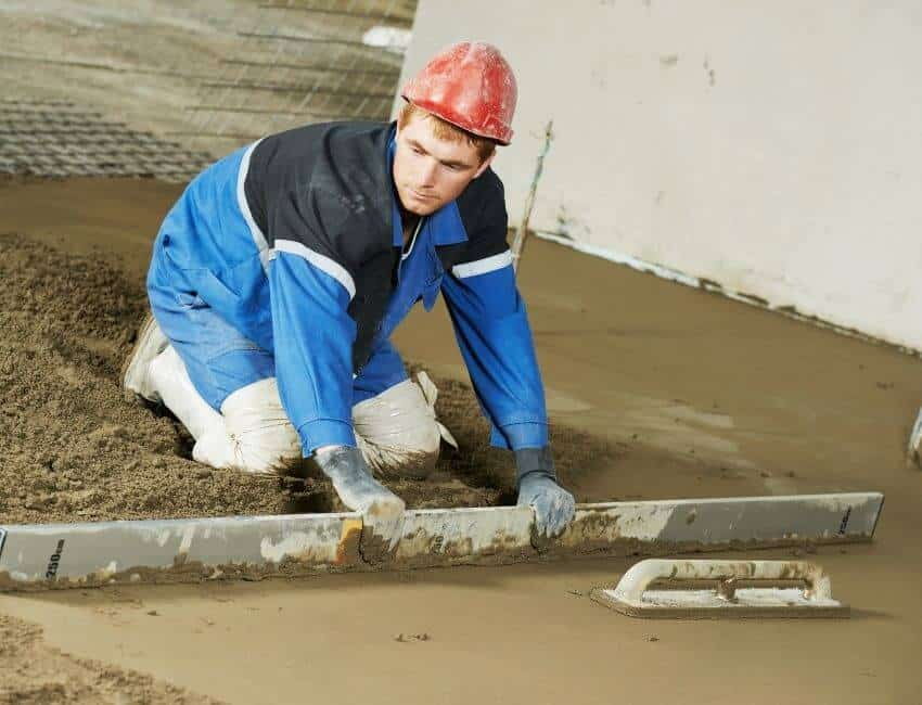 How many types of concrete are there for garage Floor