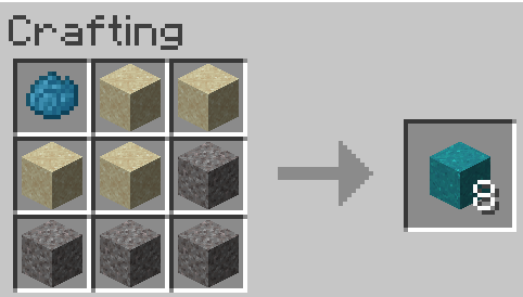 Materials Needed for concrete in Minecraft
