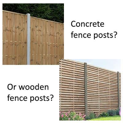 concrete vs wooden fence post